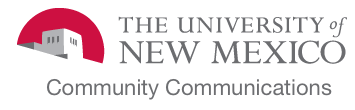 The University of New Mexico - UNM Community Communications